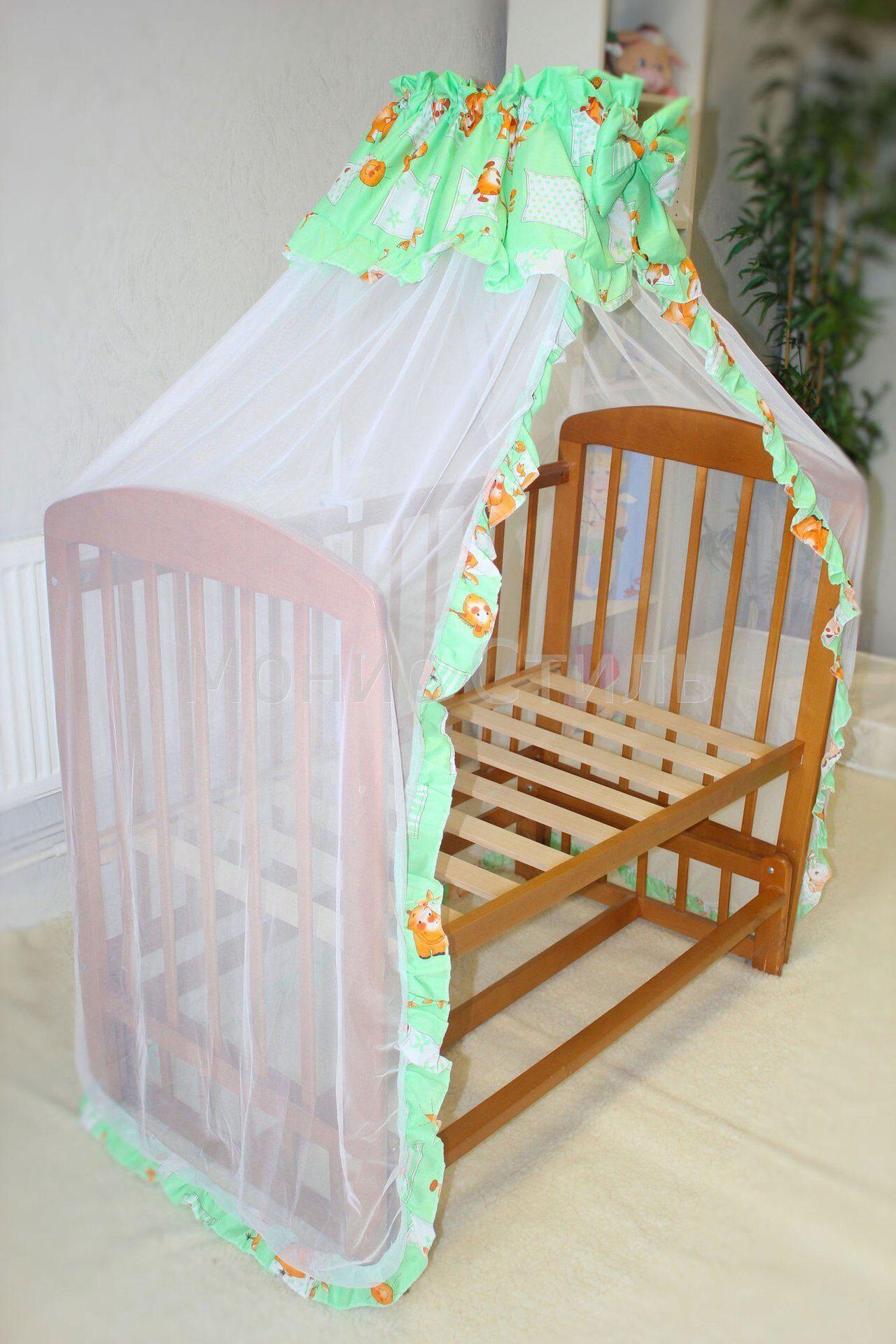 Балдахин в кроватку для новорожденных своими руками выкройки фото